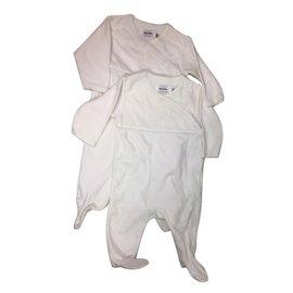 Baby Dior-set of 2 sleepsuit-White