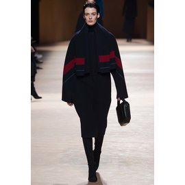 Hermès-2016 Winter Runway Women's Double-faced Cashmere Coat-Red,Blue