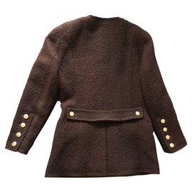 Chanel-Veste Tweed Chanel-Marron