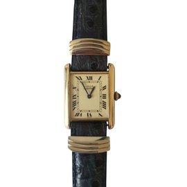 Cartier-Montre Tank Must-Noir,Autre