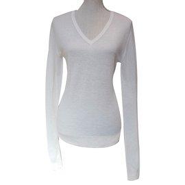 Calvin Klein-Pull-blanc cassé