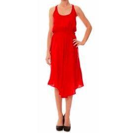 Calvin Klein-Robe-Rouge