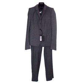 Calvin Klein-Tailleur pantalon-Gris