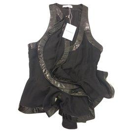Givenchy-Top volant-Noir