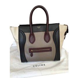 Céline-luggage tricolor-Multicolore
