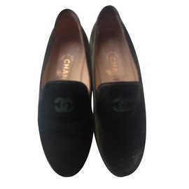 Chanel-Flat slipper-Khaki