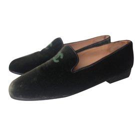 Chanel-Flat slipper-Kaki