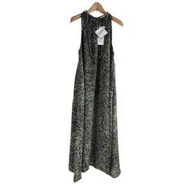 Jean Paul Gaultier-Robe-Noir,Doré,gris anthracite