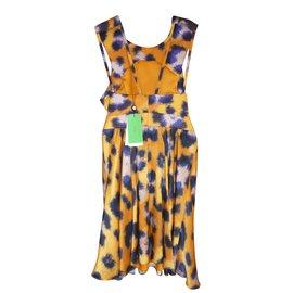 Kenzo-Robe dos nus imprimé léopard-Imprimé léopard