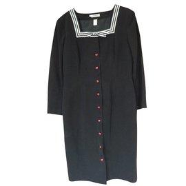 Cacharel-Robe boutonnée coeurs-Noir