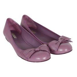 Bottega Veneta-Ballerines-Violet
