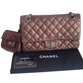 Chanel-Reissue 2.55 Quilted Classic Calfskin double flap-Bronze