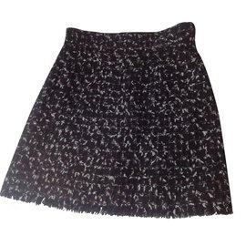 Chanel-Jupe tweed Chanel-Noir
