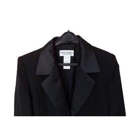 Yves Saint Laurent-Blazer manches longues-Noir