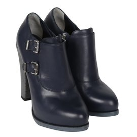 Fendi-Bottines-Bleu,gris anthracite