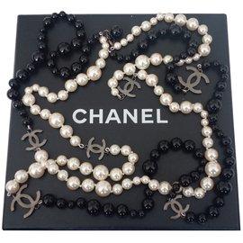 Chanel-SAUTOIR CHANEL PERLES-Multicolore