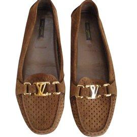 Louis Vuitton-Mocassins-Caramel