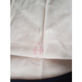 Hermès-chale triangle-Rose