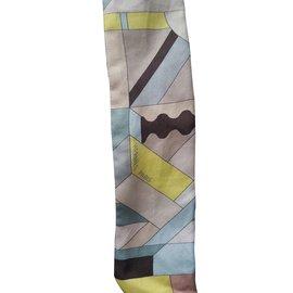 Hermès-Twilly en soie-Multicolore