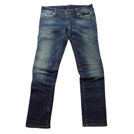 Dsquared2-Jeans droit-Bleu