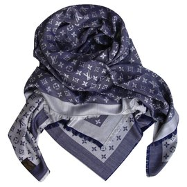 Louis Vuitton-Châle monogram-Bleu