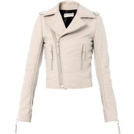 Balenciaga-veste de motard-Blanc