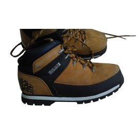 Timberland-Chaussures à lacets-Caramel
