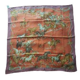 Hermès-Les mustangs-Multicolore