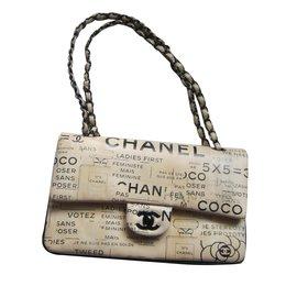 Chanel-Timeless Medium Newspaper-Beige