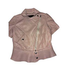 Louis Vuitton-Veste en cuir-Rose