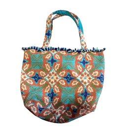 Antik Batik-Tasche-Blau