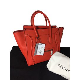 Céline-Mini celine luggage-Rouge