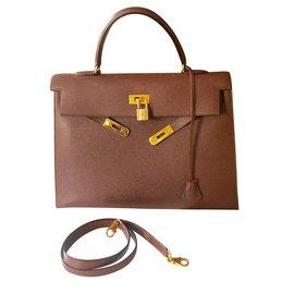 Hermès-Sac Kelly 35cm gold-Autre
