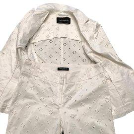 Flavio Castellani-Tailleur pantalon-Blanc