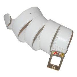 Gucci-GUCCI vintage ceinture drapeaux-Blanc