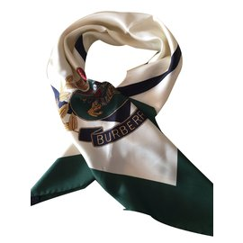 Burberry-Silk scarf-Cream