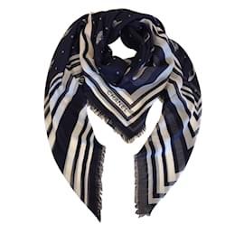 Chanel-foulard Chanel-Bleu