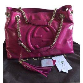 Gucci-gucci soho  chain bag-Rose