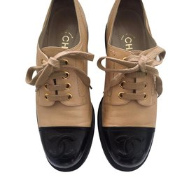 Chanel-Lace ups-Beige