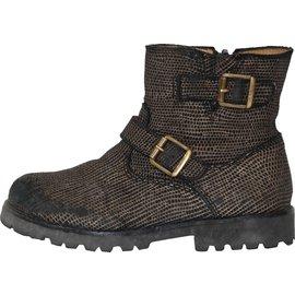 Pom d'Api-Boots-Black,Bronze