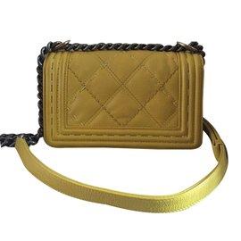 Chanel-Sac à main-Jaune