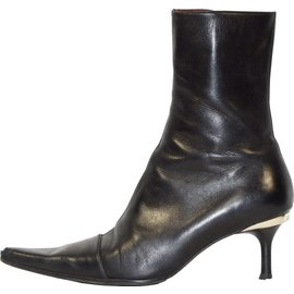 Luciano Padovan-Bottines pointues-Noir