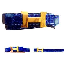 Hermès-Belt-Blue
