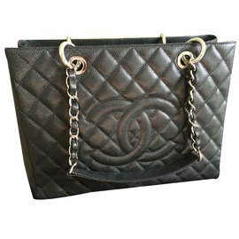 Chanel-GST (grand shopping tote)-Noir