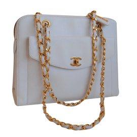 Chanel-Sac à main-Blanc