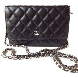 Chanel-Wallet on chain-Noir