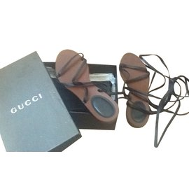 Gucci-Spartiates Gucci-Noir