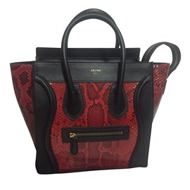 Céline-Luggage Micro-Rouge