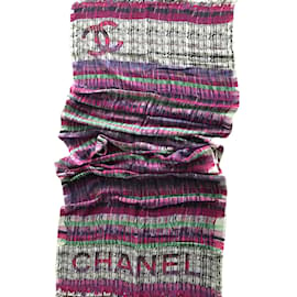 Chanel-Etole cachemire Chanel-Multicolore