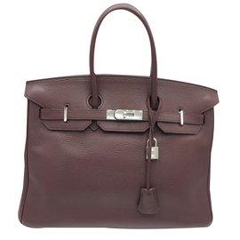 Hermès-BIRKIN 35-Bordeaux